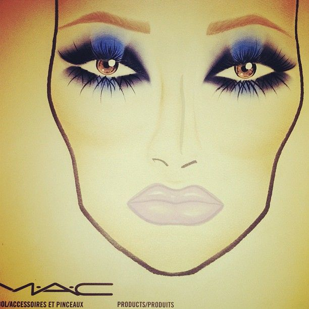 MAC Face Chart. blue