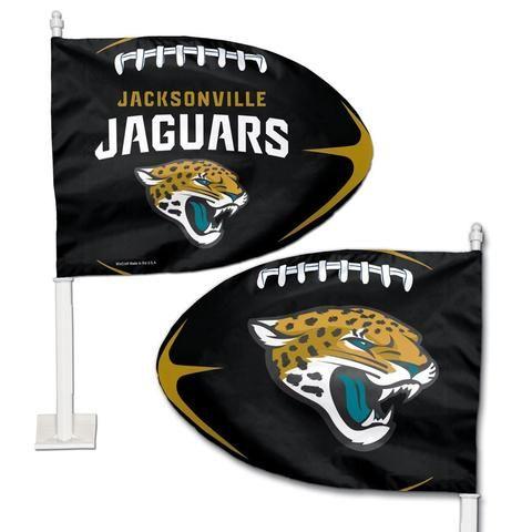 NFL Jacksonville Jaguars Football Shaped Car Flag