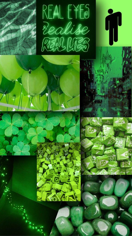 green 💚 in 2020 Green aesthetic tumblr, Neon wallpaper