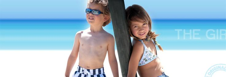 boy and girl swim wear