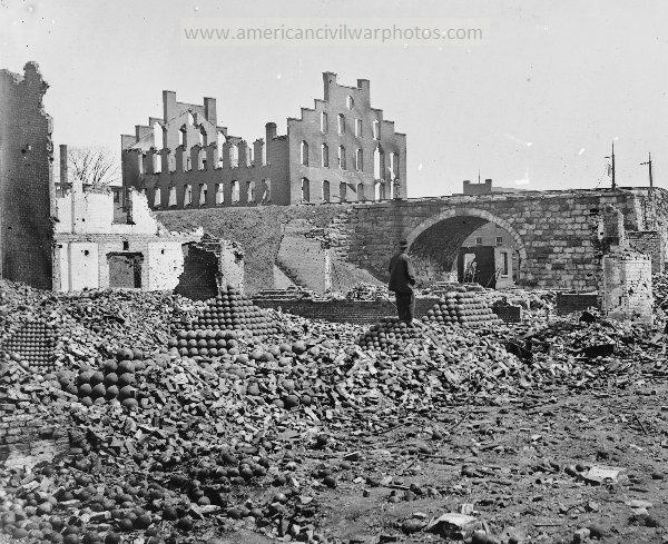 American Civil War Pictures & Photos   Richmond, Virginia. Ruins of State Arsenal.
