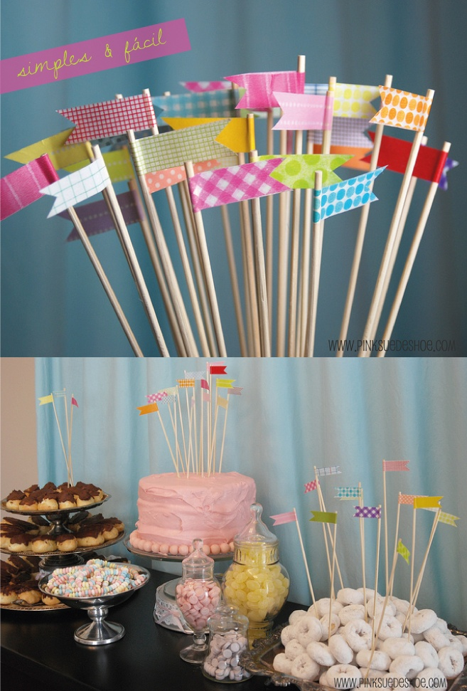 banner toothpicks for larger apps faschingsparty ideen diy essen kost me deko pinterest. Black Bedroom Furniture Sets. Home Design Ideas