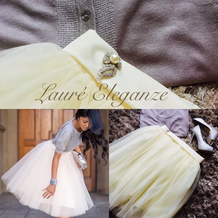 Cream a Tulle Skirt by Lauré Eleganze