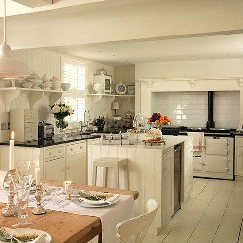 Kitchen shabby georgian interiors (via housetohome) - my ideal home...
