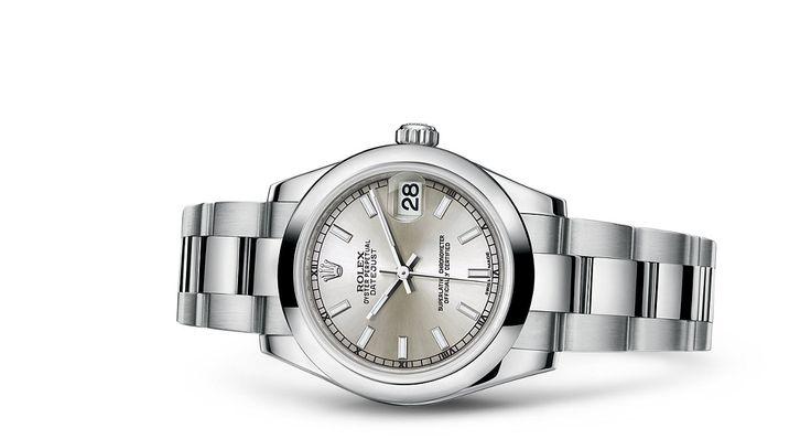 Entdecken Sie die Datejust 31 Uhr in Edelstahl 904L auf der offiziellen Website von Rolex. Modell: 178240