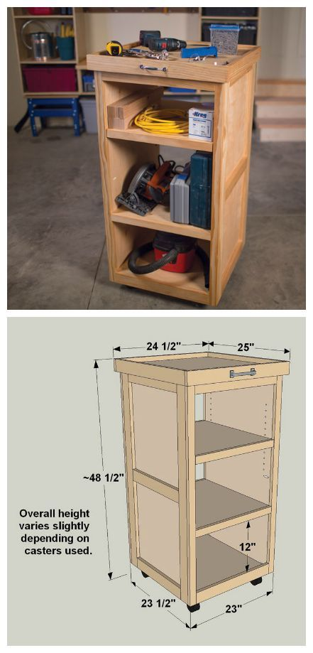 Diy Rolling Tool Cart Find The Free Plans For This Project And Many Others