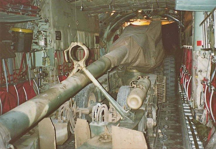 G5 Howitzer on a C130 from 28 SQD Rundu to Mavinga.