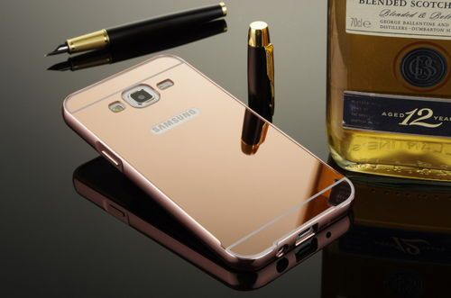 For-Samsung-Galaxy-J1Ace-J2-J3-On5-On7-Luxury-Metal-Frame-Slim-Mirror-Cover-Case