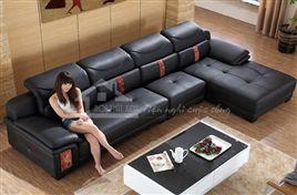 Ghế sofa da màu đen cuốn hút