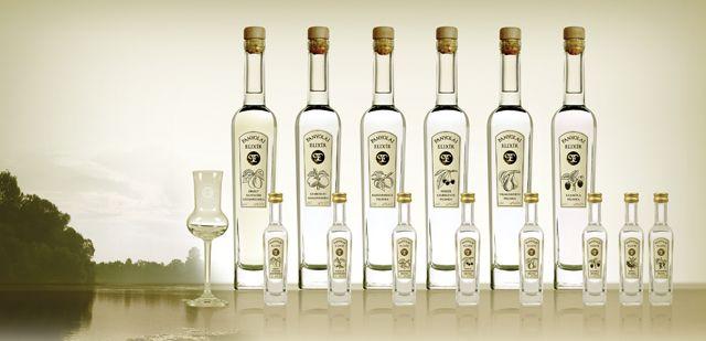 Panyolai pálinkás üveg design -
