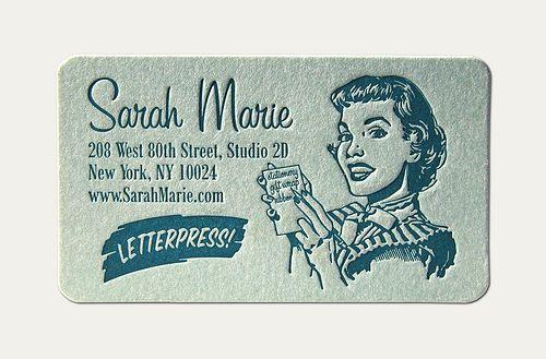Sarah Marie Business Card by Cranky Pressman, via Flickr