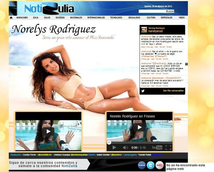 Norelys Rodríguez en Notizulia