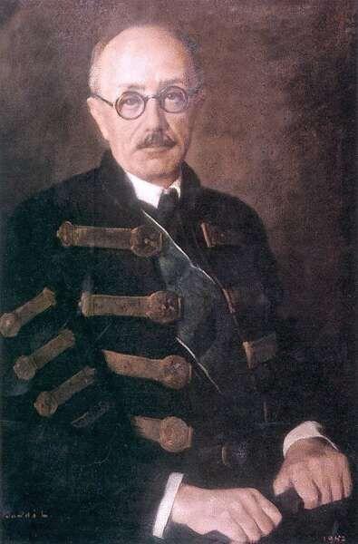 Teleki Pál - (1879-1941) - geográfus, egyetemi tanár, politikus, miniszterelnök, tiszteletbeli főcserkész, a Magyar Tudományos Akadémia tagja, a Székely Egyetemi Főiskolai Hallgatók Egyesületének rabonbánja