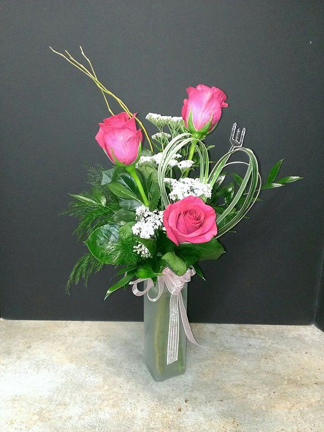 Three Rose Bud Vase Our most popular bud vase features ...