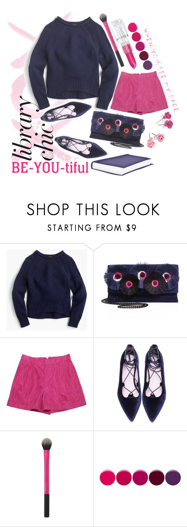 """""""BE-YOU-tiful"""" by dizzier ❤ liked on Polyvore featuring GALA, J.Crew, Loeffler Randall, Ralph Lauren Collection, Deborah Lippmann, Rodin and BRIT*"""