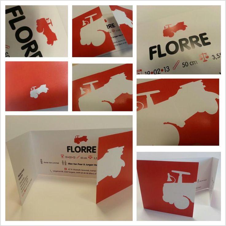 Stoere venstervouw-kaart voor Florre !