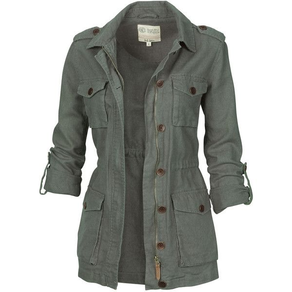 Fat Face Linen Military Jacket (€38) ❤ liked on Polyvore featuring outerwear, jackets, tops, coats, olivine, military army jacket, button jacket, zipper jacket, military style jacket and lightweight field jacket