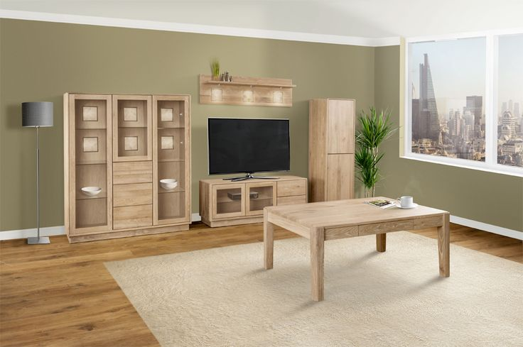 Portofino features a warm brushed oak with retro detail and smaller proportions make this range perfect for todays lifestyle living. #SolidOak