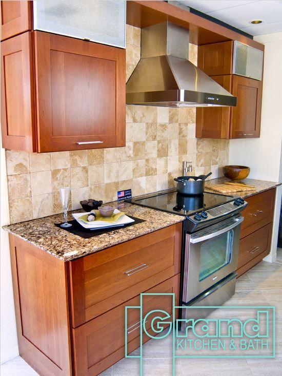 Kraftmaid, Putnam Cherry Cinnamon cabinets, this design is just a