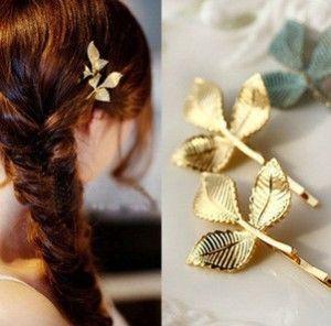 Olive leaf haarspeld bruids sieraden haar clip haar pin hairwear gratis verzending keten broche gratis verzending