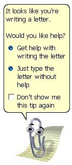 Go away, Paperclip!! I so remember this you could change it to a circle and make it so tricks
