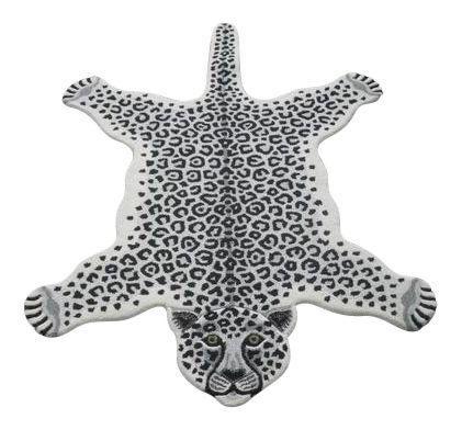 Modern Hand Tufted Leopard Skin Shaped Wool Rug - 4′6″ × 6′ on Chairish.com