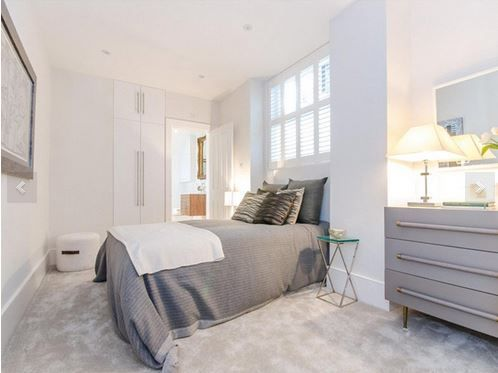 Bedroom basement flat London W8 #cutlerandbond #basementflat #gardenflat #londonproperty