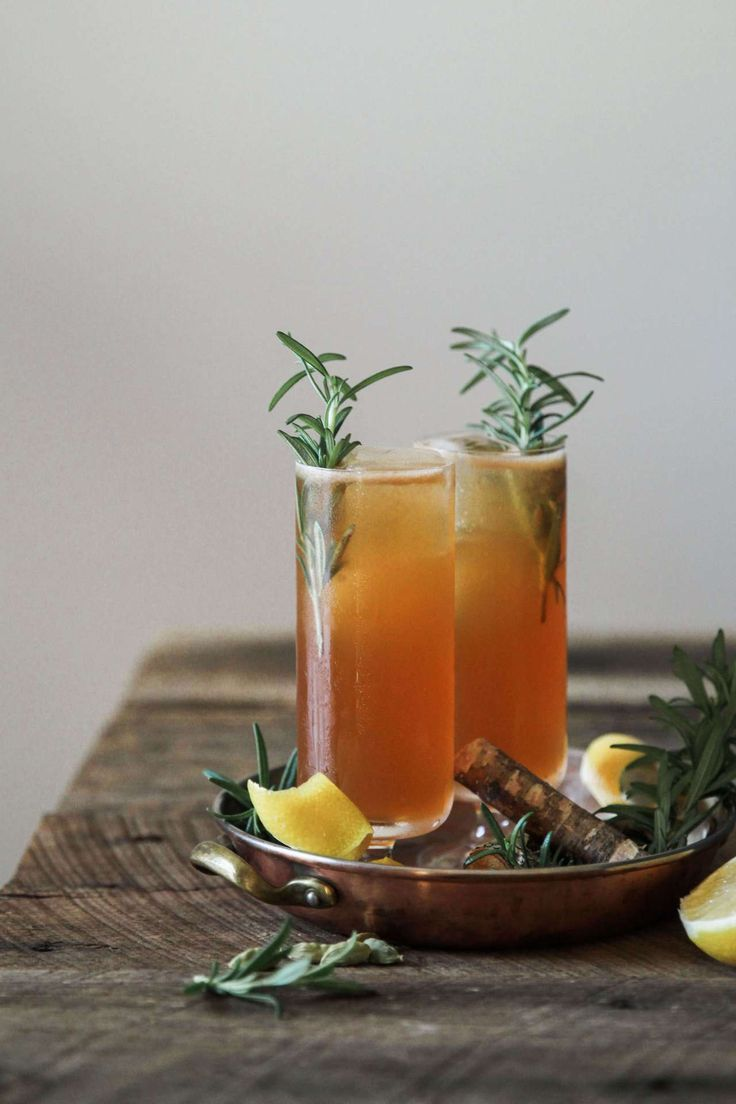 Ginger, cardamom, and rosemary cocktail