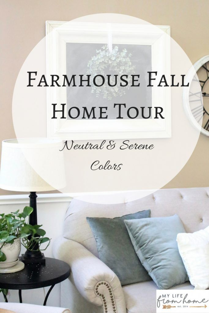 Farmhouse Fall Home Tour- full reveal- fall home tour- neutral & serene fall home tour- home design- home decor- do it yourself- DIY- DIY projects- seasonal decor- fall- autumn- living room decorating ideas- room design- rustic home decor- wall decorating ideas- decoration ideas- room decor ideas- chalkboard- farmhouse decor
