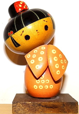 Vintage Japanese Kokeshi -Wooden Figure Doll