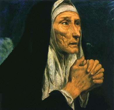 St. Monica - Patron Saint of Wives.  Mother of St. Augustine.  One of my favorite saints.