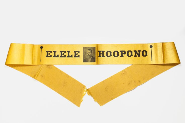 Rare 1890s Prince Kuhio Campaign Armband Ribbon circa 1903 - Elele Hoopono