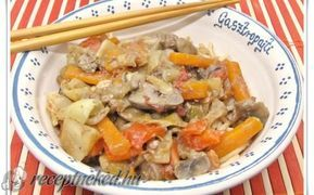 Édes savanyú csirkemáj wokban recept fotóval
