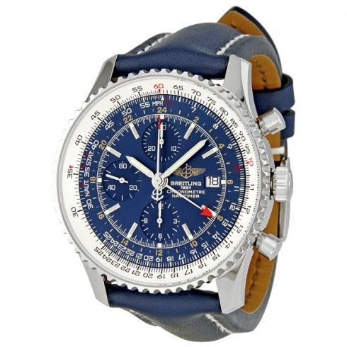 Breitling Navitimer World Blue Dial Chronograph Men's Watch A2432212-C651BLLT