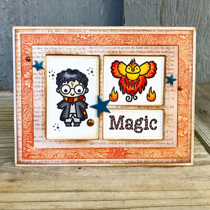 "86 Likes, 4 Comments - Lindsey Amschler (@lindseyamschler) on Instagram: ""Created this cute Harry Potter themed card recently. I used super cute stamps from Sweet Stamp…"""