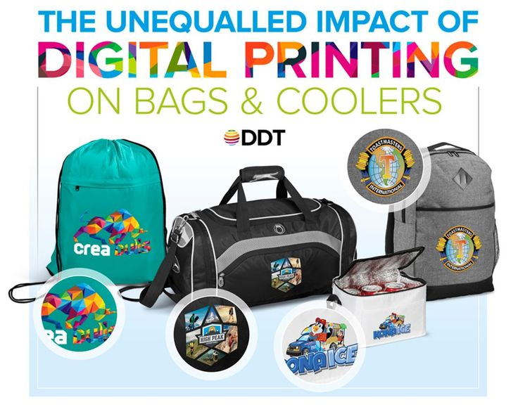 Best Branding offers Digital Printing on Bags. We know that you want your brand to stand out from the crowd!  With our just-launched digital branding technology providing exciting new ways to deliver your message in high-impact, photo realistic full-colour, it's mission accomplished.  Be it for a conference, in the gym or an annual summer vacation, bags and coolers have always been a great choice for promoting your brand.  Contact Best Branding to view all of our 99 digital-transfer-ready…
