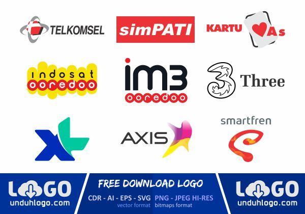 Logo Operator Seluler Vector Logo Design Logo Design Set Game Logo Design