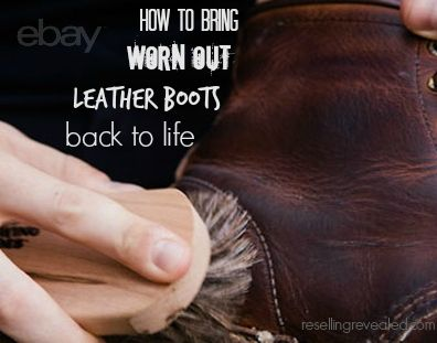 This doubled my selling price for leather boots!  Learn how to clean, condition, and restore old leather boots.  Whether you want to sell on eBay or simply recondition leather of you own, this works!  And it's easy!  http://www.resellingrevealed.com/how-to-resurrect-leather-boots.html