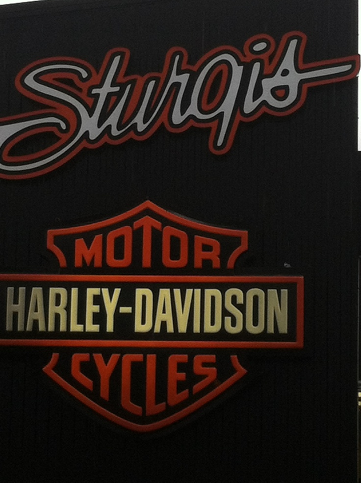 Harley Davidson shop in Sturgis! So much stuff!