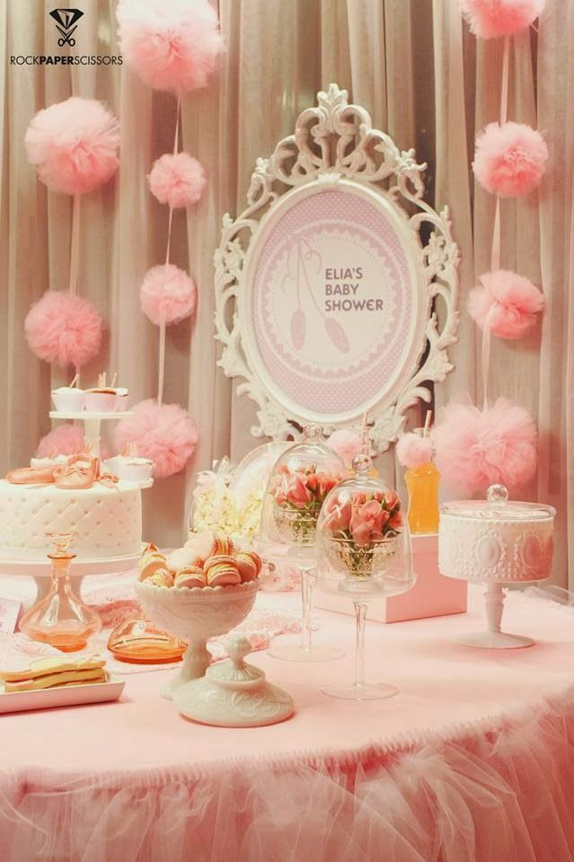 Little Big Company | The Blog: Ballerina Baby Shower by Rock Paper Scissors