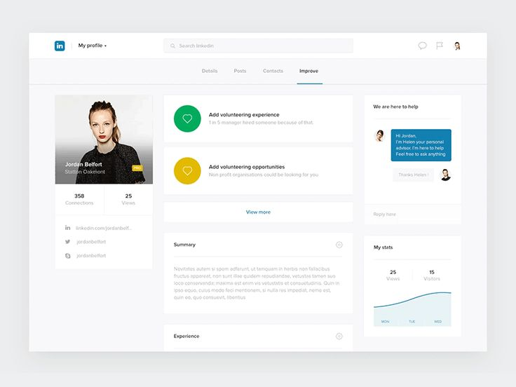 Hi guys  Here is another part of my Linkedin concept: the profile editor . You can check out the full behance project here    Have a nice day