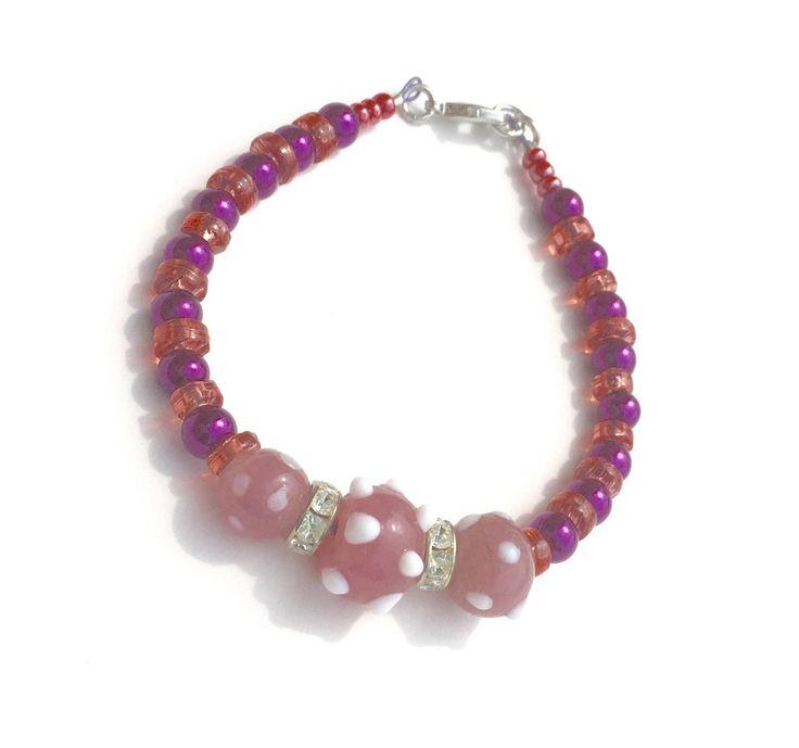 Magenta and Pink, Color Pop, Beaded Bracelet https://www.etsy.com/listing/524907938/bold-jewelry-colorful-bracelet-cute?utm_campaign=crowdfire&utm_content=crowdfire&utm_medium=social&utm_source=pinterest