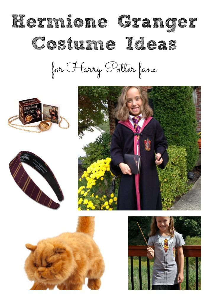 Hermione Granger Costume Ideas for Harry Potter Fans including a Gryffindor Headband and Crookshanks