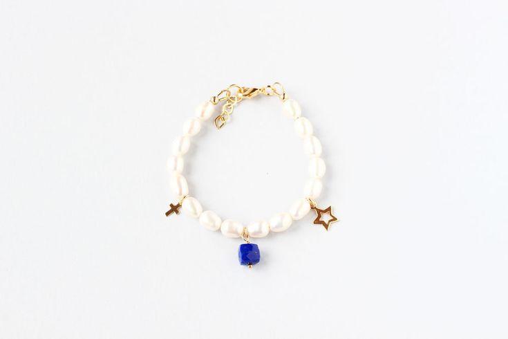 September Birthstone First Communion Bracelet, Girl Communion Bracelet Pearl, Girl Communion Jewelry, Keepsake Bracelet Gift, Children by ILgemstones on Etsy