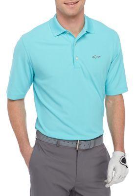 G  Norman Collection Bright Aqua Short Sleeve Pro Tek Micro Polo Shirt
