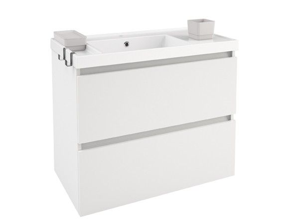 Cosmic b box mueble 2 cajones blanco mate lavabo de resina muebles ba o pinterest boxes - Muebles de bano blanco mate ...