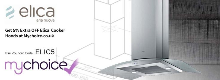 Get extra 5% discount on Elica Cooker Hoods at Myvhoice.co.uk  by using the 'ELIC5'. Hoard all your kitchen essentials with crazy discounts! http://www.voucherish.co.uk/stores/mychoice/