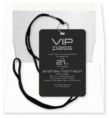 Great Idea Not Just For A 21st Birthday Invitation But Any Theme Party VIP Pass