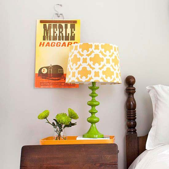 Do you have posters from college or high school that you love but don't know how to update them? Try a wooden pants hanger that makes a fun visual for your favorite old artwork: http://www.bhg.com/decorating/budget-decorating/cheap/decorate-with-what-you-have/?socsrc=bhgpin010514posterdisplay&page=5