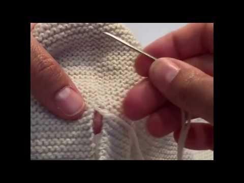 Unir dos piezas tejidas a punto musgo. - YouTube